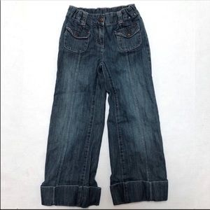 5/$25 Gymboree girls wide leg cuffed jeans 6